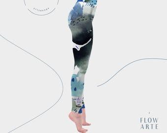 textured Leggings, patterned leggings, art pants, Hula Hoop Clothing, circus clothing, high waisted leggings, yoga leggings, fitted leggings