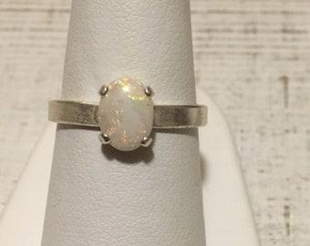 Australian Opal Ring. Size 7.25. Sterling Silver