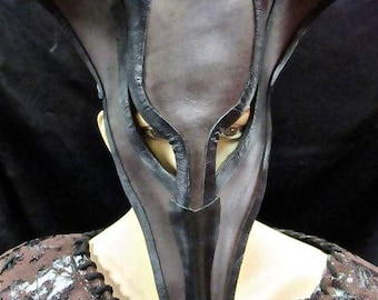 Mysterious Anubis Leather Mask