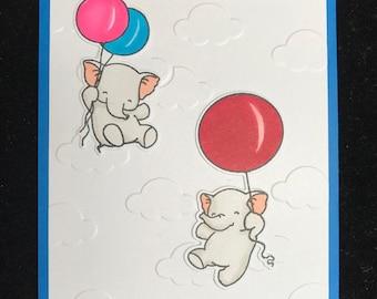 Oh Happy Day Elephant Birthday Card