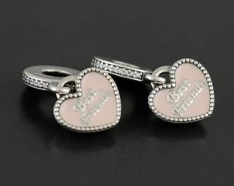 Authentic Pandora Best Friends Dangle Pink Enamel 791950CZ