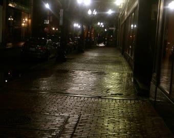 Rhode Island rainy night