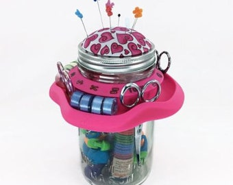 Tutu Mason Jar Sewing Caddy