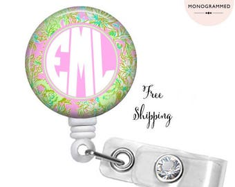 Monogrammed Badge - Chimply Chic inspired