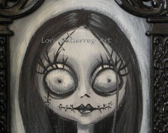 "Nightmare Before Christmas ""Sally"" Original Painting by Lori Gutierrez!  OOAK Art!"
