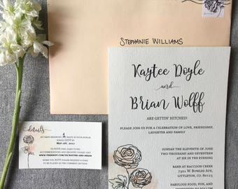 Ranunculus Wedding Invite Set