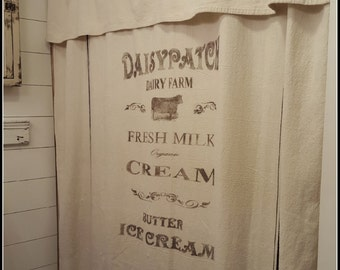 Daisypatch Dairy Farm Grain sack Window/Shower curtain