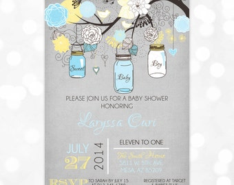 Mason Jars Baby Shower Invitation