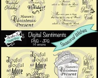 We Are 3 Digital Sentiments - Seasonal Wishes, Christmas