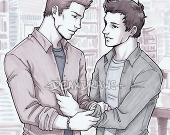 Dean and Cas Bunker (Print)