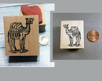 Large or small Camel Rubber Stamp