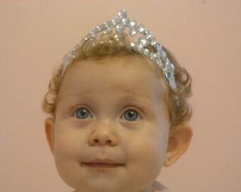 Baby Headband Tiara - Glitter and Glam -Costume, dress up, pretend play, kids costume, princess costume, princess headband, baby birthday