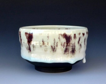 Chun White, Red and Black Porcelain Bowl