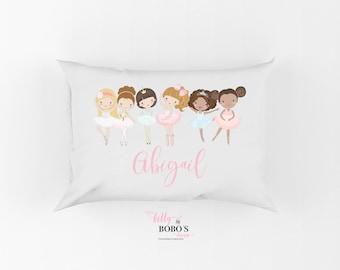 Personalized Kids Pillowcase, Ballerina Pillow Case, Ballet Pillow, Toddler Girl Pillow, Dancer Pillowcase, Dance Pillow, Ballerina Gift