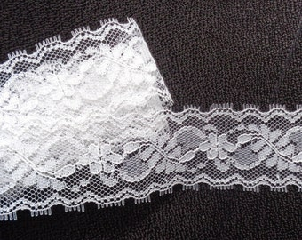 1 1/2 inch wide ivory lace trim 1 yard and 15 inch cut