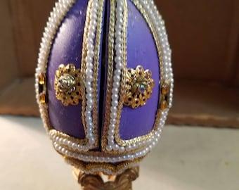Vintage handmade decorated Easter egg