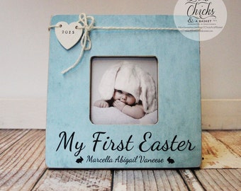 My First Easter Picture Frame, Easter Picture Frame, Personalized Easter Frame, Baby's First Easter