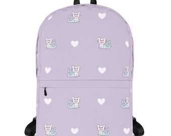 Purple Love Merdoggo Backpack