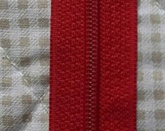 ZIP closed end zipper Prestil Z51 - 12cm - red 850 - for skirts, dresses, cushions...