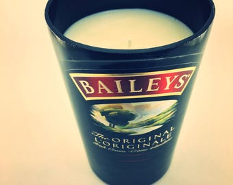 Soy Candle In a Baileys Bottle french Vanilla Scented