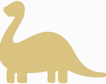 Dinosaur Bronchiosaurus Craft  Wooden Unfinished, Large Shape