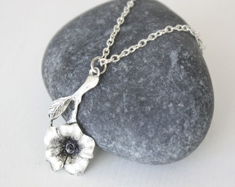 Flower Necklace, Floral Necklace, Hibiscus Flower, Garden Jewelry, Gifts for Her, Mothers Day Gift, Daughter Gift, Sister Gift, BFF Gift