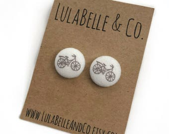 Bicycles Button Earring
