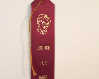 Justice For Barb - Adult Award Ribbons- Stranger Things