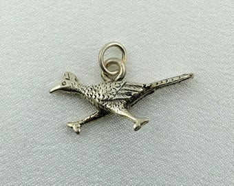 Road Runner Vintage Solid Sterling Pendant FREE SHIPPING!  #RUNNER-CM1
