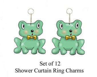 Green Froggies.....Bling Charm Ornaments...Set of 12