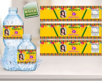 Crayola Water Bottle Labels, Crayola Labels, Crayola Stickers, Bottle Labels, Bottle Stickers, Labels, Crayola, Personalized, Boys, Girls,