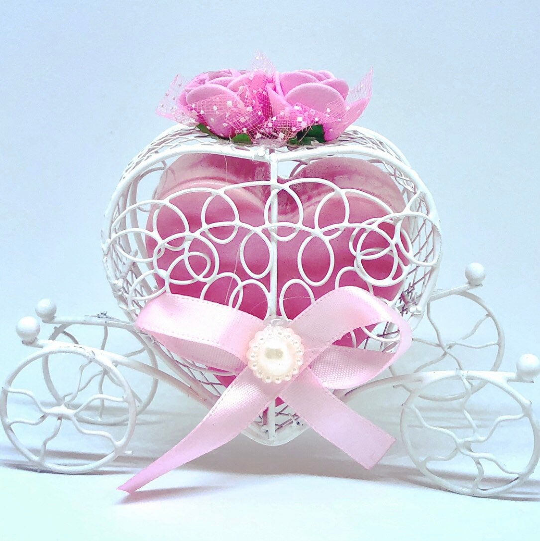 Princess Carriage Heart Soap Favors
