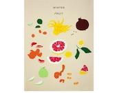 Winter Fruit Print