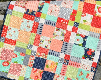 PDF Baby QUILT PATTERN....Quick and Easy...2 Charm Square Packs, Lap, Twin and Full and Queen Sizes...Family Ties