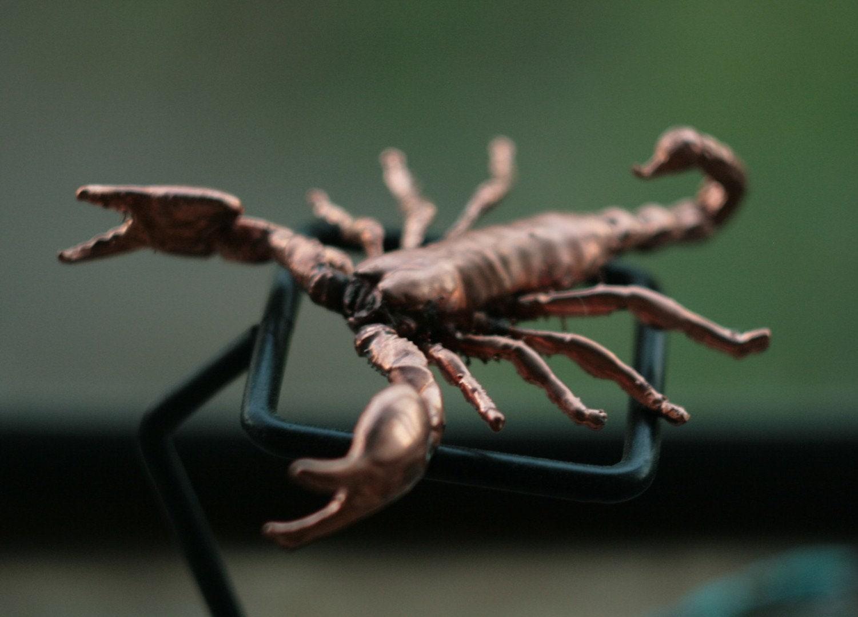 Metall Scorpion Statue vergoldet beängstigend Figur