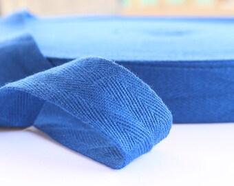 Cotton Twill Tape Blue 10 yards 1 inch Wholesale Herringbone Straps Binding