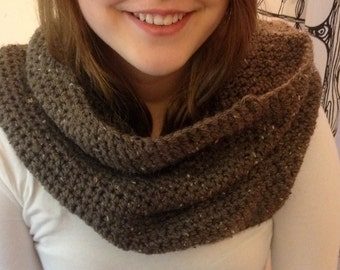 Toasted Pumpernickel Cowl Neck Scarf