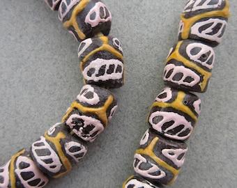Krobo Glass Beads (12x12mm) [67470]