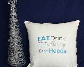 Personalised Christmas cushion // handmade and embroidered