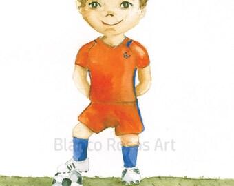 A6 Football boy