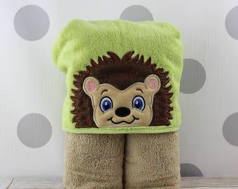 Kids Hedgehog Hooded Towel - Hedgehog Towel for Bath, Beach, or Swimming Pool - Children's Hedgehog Towel - Great Christmas Gift Idea!