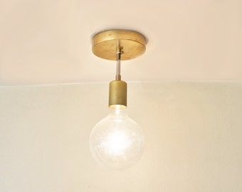 FREE SHIPPING! The Stag - Modern Brass Pendant Light