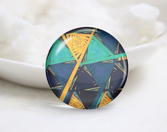 Handmade Round Tiling Photo Glass Cabochons (P3580)