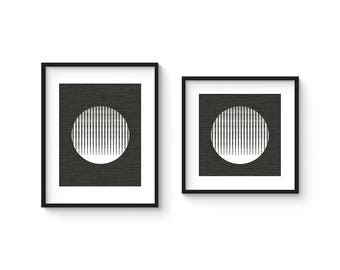 MOIRÉ no.5 - Minimalist Black and White Abstract OP Art Print - in 8x8 and 8x10 Format