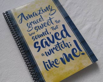 Blank Notebook - Amazing Grace