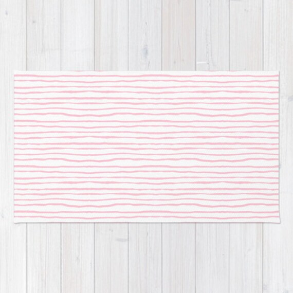 Pink Stripe Area Rug 2x3 Rug Light Pink And White Stripes