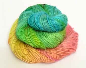 Hand-Painted Yarn - Sport - Wensleydale - Heritage Breed