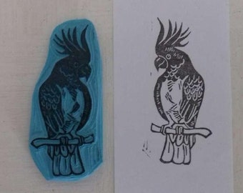 Cockatoo bird stamp