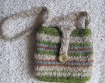 Felted wool purse