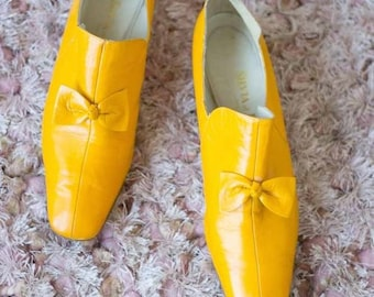 1960s Italian Marigold Leather Loafers